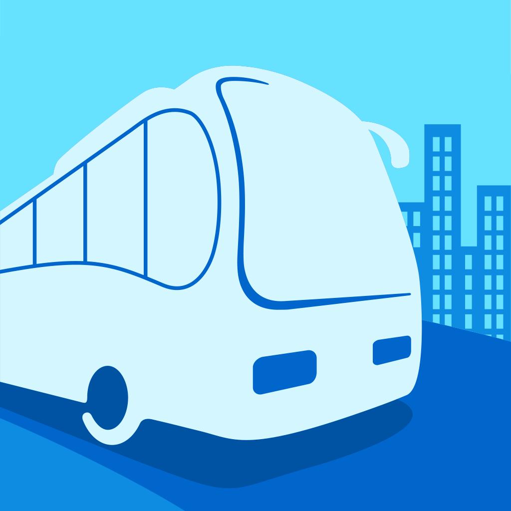 酒店巴士矢量图